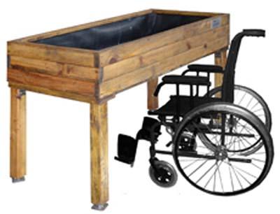 mesa de cultivo adaptada