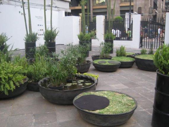 Macetas recicladas plantas en neum ticos for Estanque con neumatico