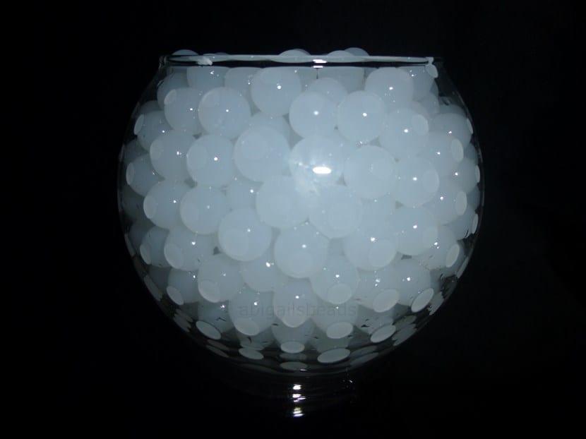 Agua en gel