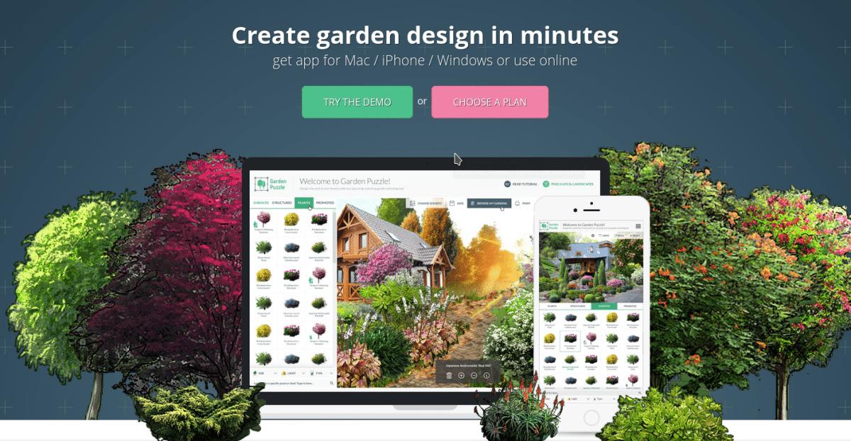 Garden Puzzle te permite diseñar jardines preciosos