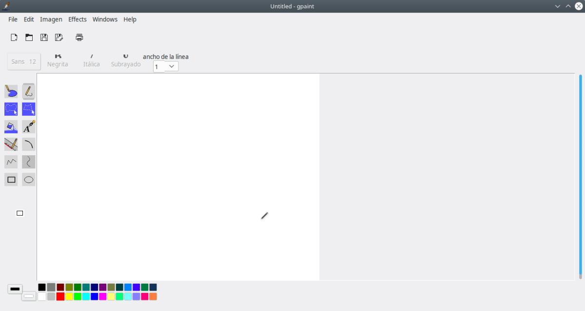 El Gpaint es un programa de diseño gratuito
