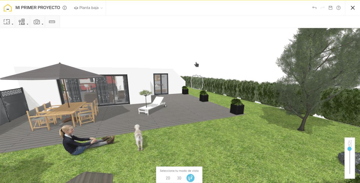 HomebyMe es un programa de diseño de jardines gratuito e intuitivo