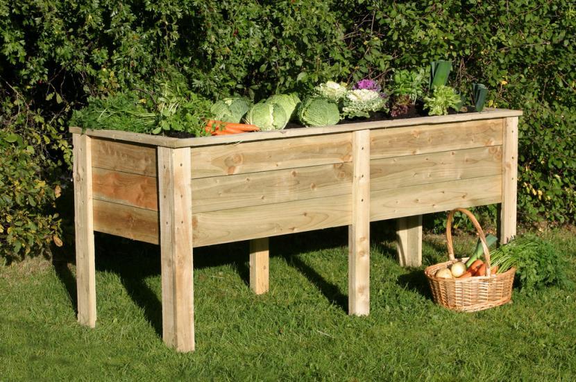 Jardinera de madera