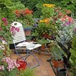 Balcón con jardín