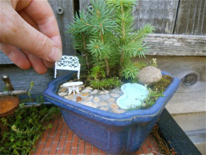 Cómo hacer un jardín en miniatura