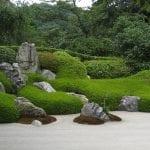Rocas en jardín