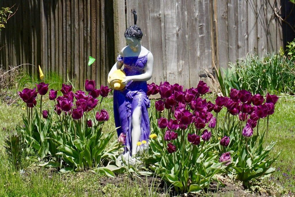 Escultura de jardín