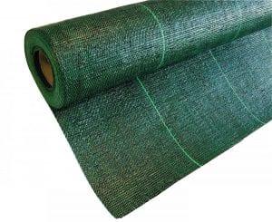 Malla antihierbas de color verde