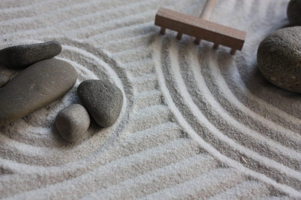 Jardín zen en miniatura