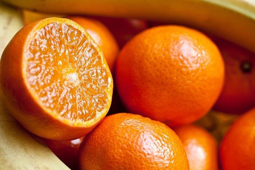 Naranja cortada