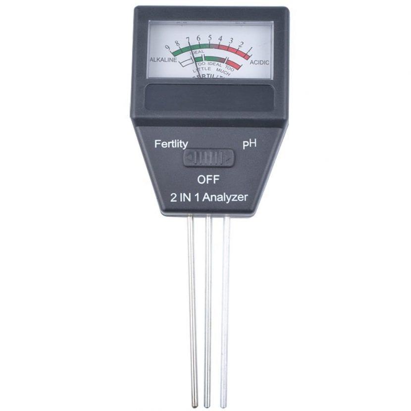 Medidor de pH y de la fertilidad del suelo