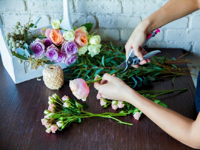 como utilizar los ramos de flores