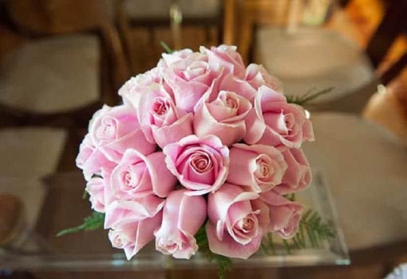 Flores rosadas pálidas