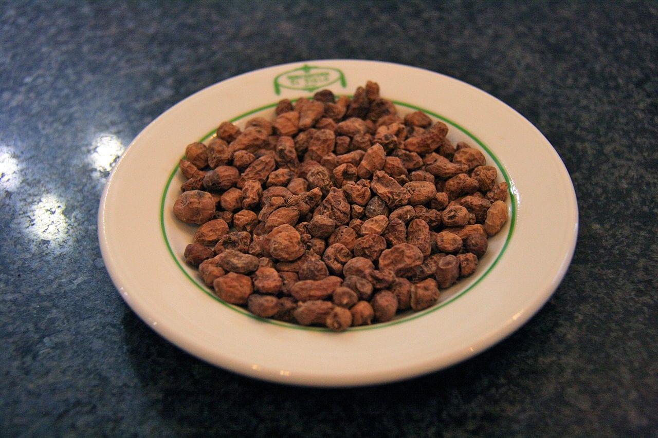 Chufas en un plato