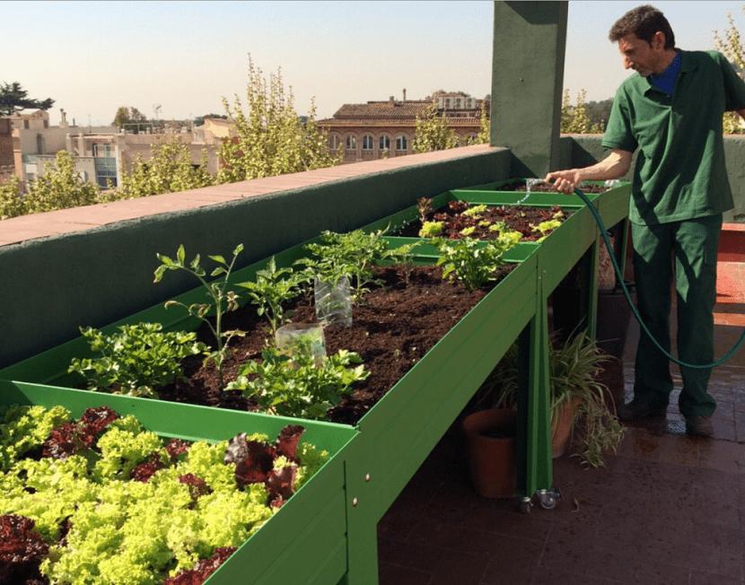 Construcci n de una mesa de cultivo casera for Mesa de cultivo casera