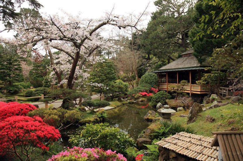 Jardín decorado al estilo oriental