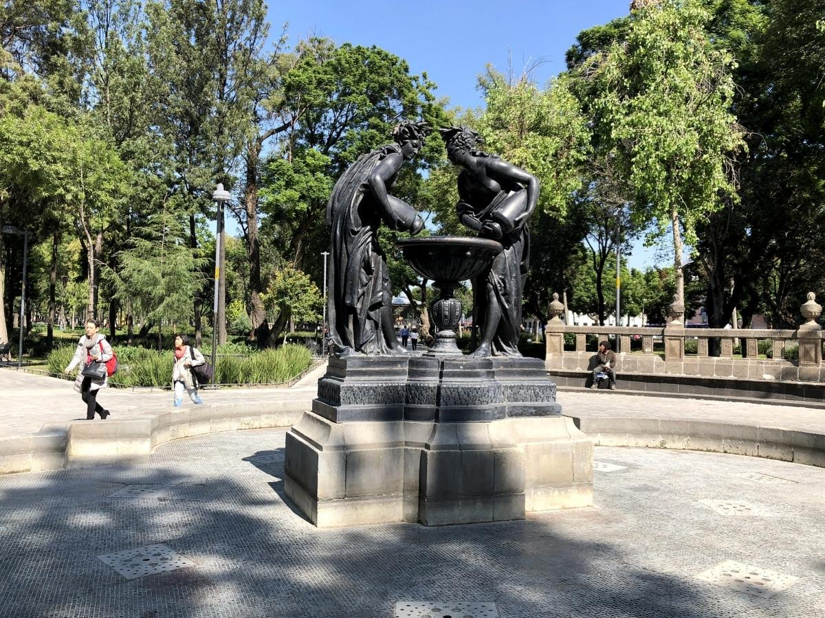 La Alameda Central es un jardín histórico
