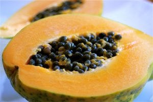 Fruto de la Carica papaya