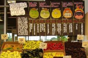Chiles en un supermercado