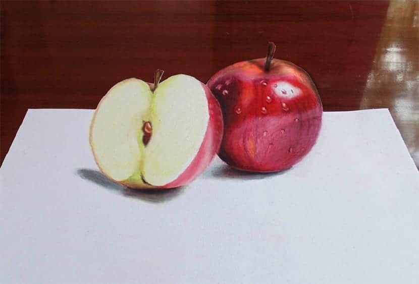 dibujar una manzana de forma fácil
