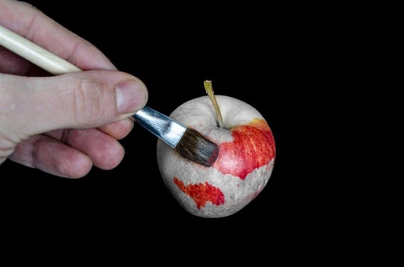 dibujar frutas y diferentes manzana