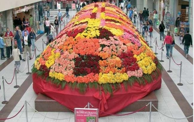 El mayor arreglo floral del mundo en Alemania