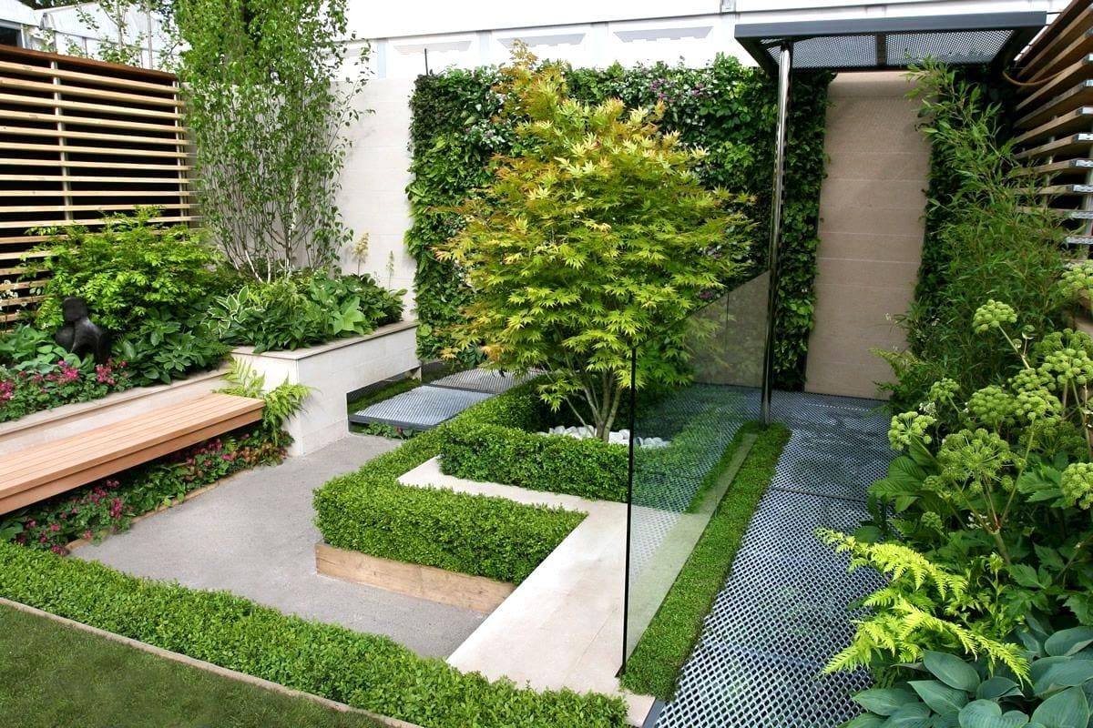 Un precioso jardín minimalista
