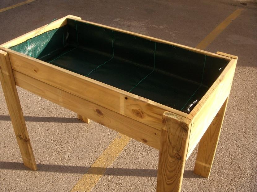 Construcción de mesas de cultivo