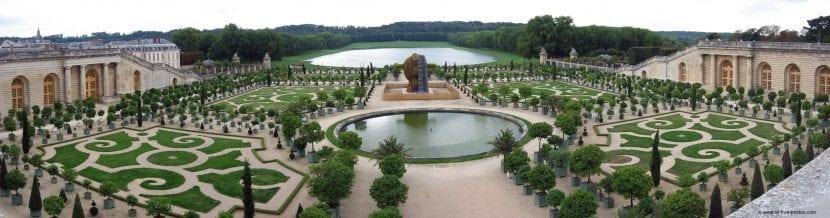 Vista panorámica de los Jardines de Versalles