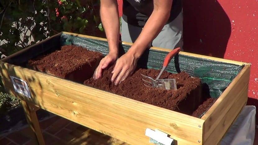 mantenimiento de las mesas de cultivo