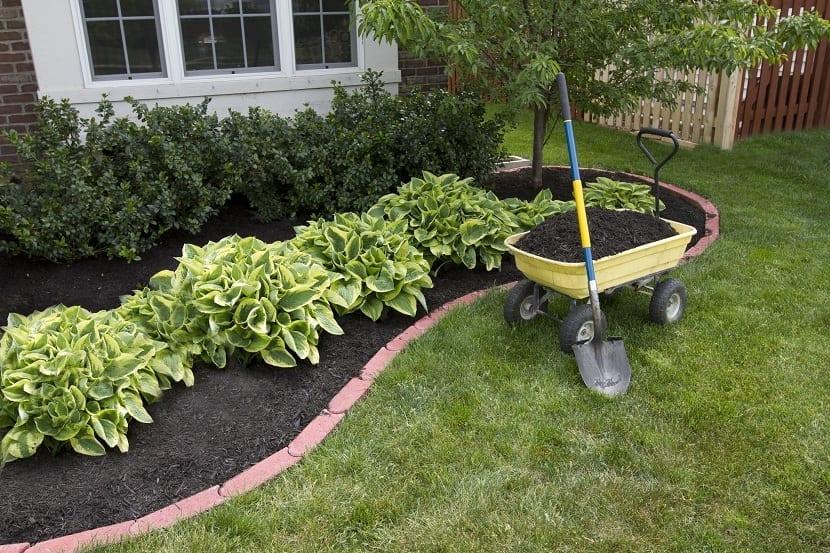 mantillo para jardines