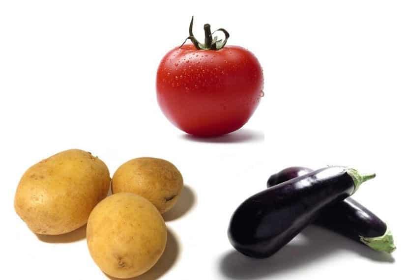 patata tomate y berenjena