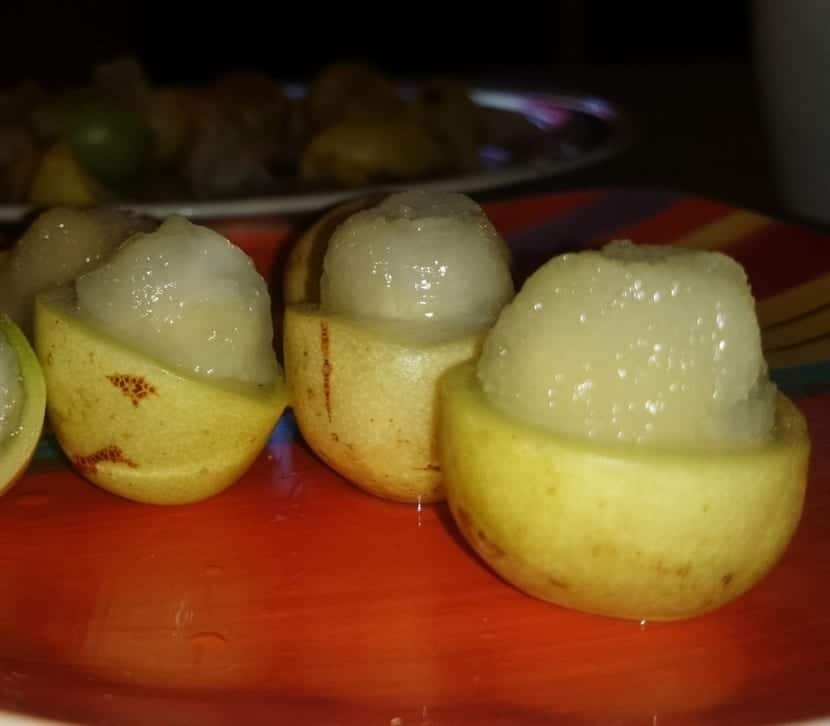 Interior del fruto de marula