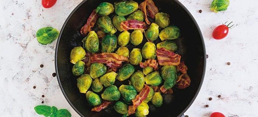 coles de bruselas cocinadas