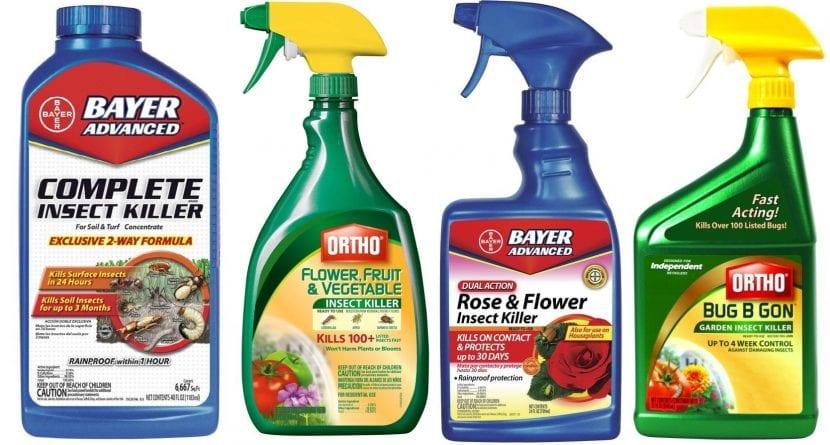 Distintos productos con imidacloprid