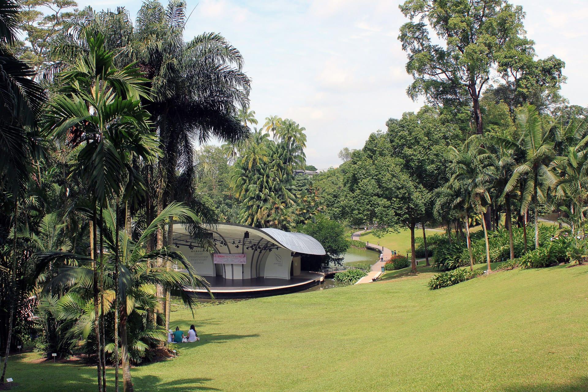 Vista del Jardín Botánico de Singapur