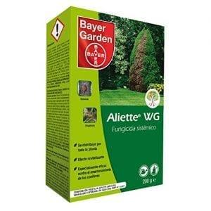 Fungicida alliette para plantas enfermas