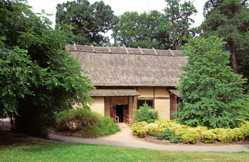 Vista de minka, la casa japonesa