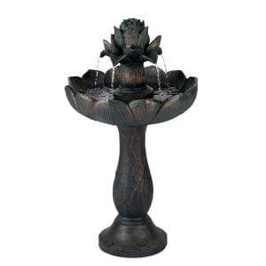 Elegante fuente con forma de flor
