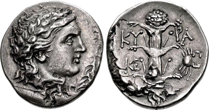 Monedas en las que se grabó el silfio