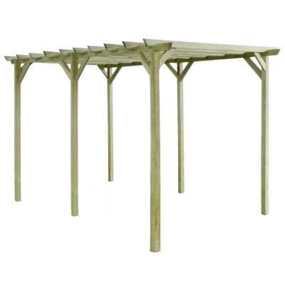 Las pérgolas pueden ser de madera