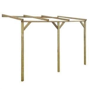 Modelo de pérgola de madera de pared