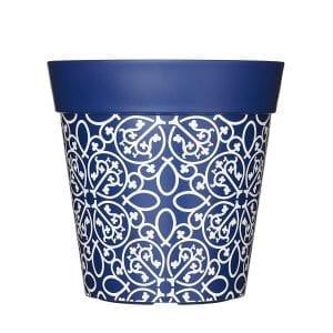 Modelo de maceta de plástico azul