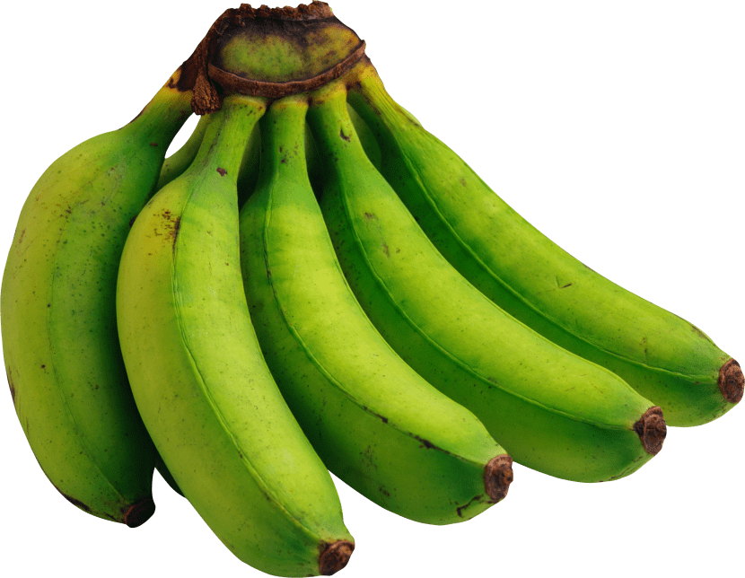 Los plátanos verdes se consumen crudos