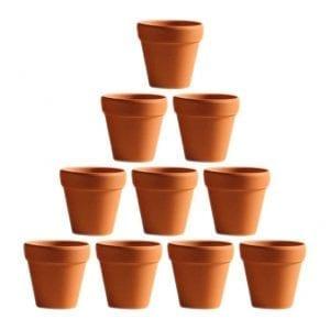 Macetas de barro pequeñas, para cactus