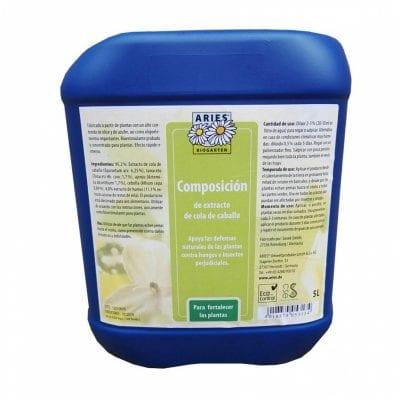 El extracto de cola de caballo se usa como fungicida
