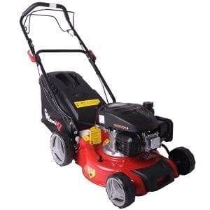 El cortacésped de gasolina GartenXL 16L-123-M3 es ideal para jardines grandes