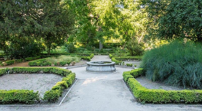 Vista de una zona del Real Jardín Botánico de Madrid