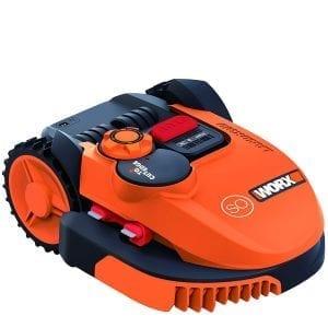 El robot cortacésped de Worx es naranja