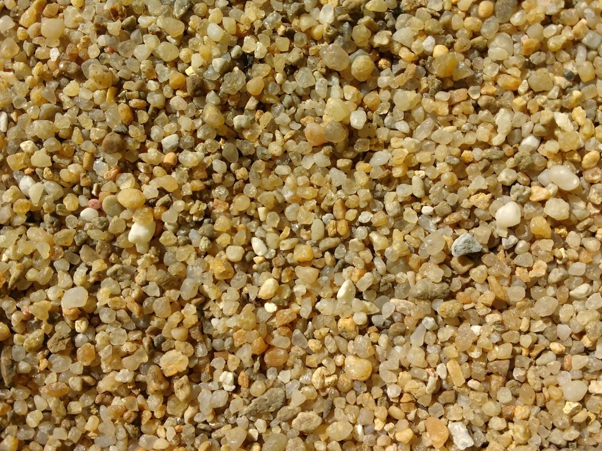 Vista de la arena de cuarzo